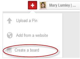 """Click on """"Create a board"""""""