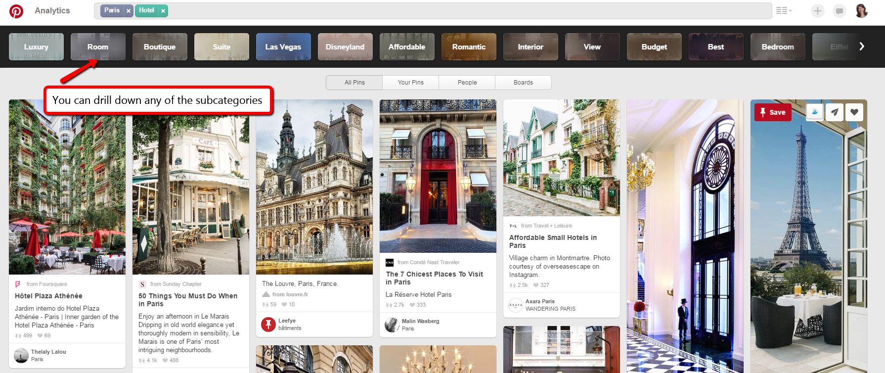 Example Pinterest Guided Search - BornToBeSocial.com, Pinterest Marketing & Consulting