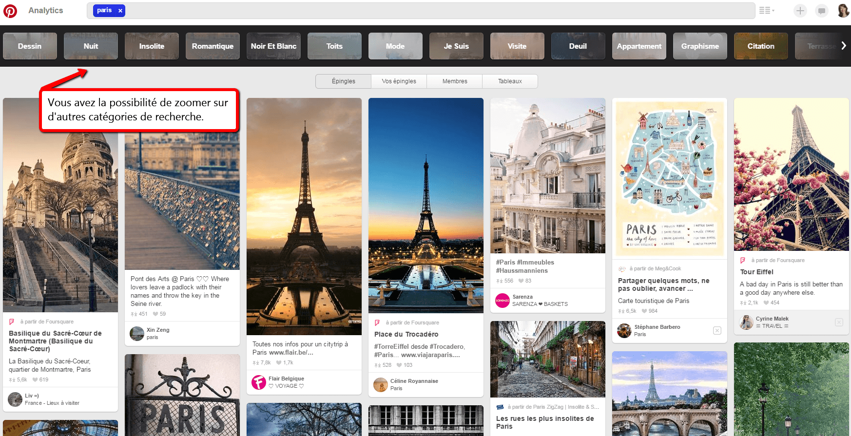 Pinterest Recherche Guidée | BornToBeSocial - Conseil & Accompagnement Pinterest