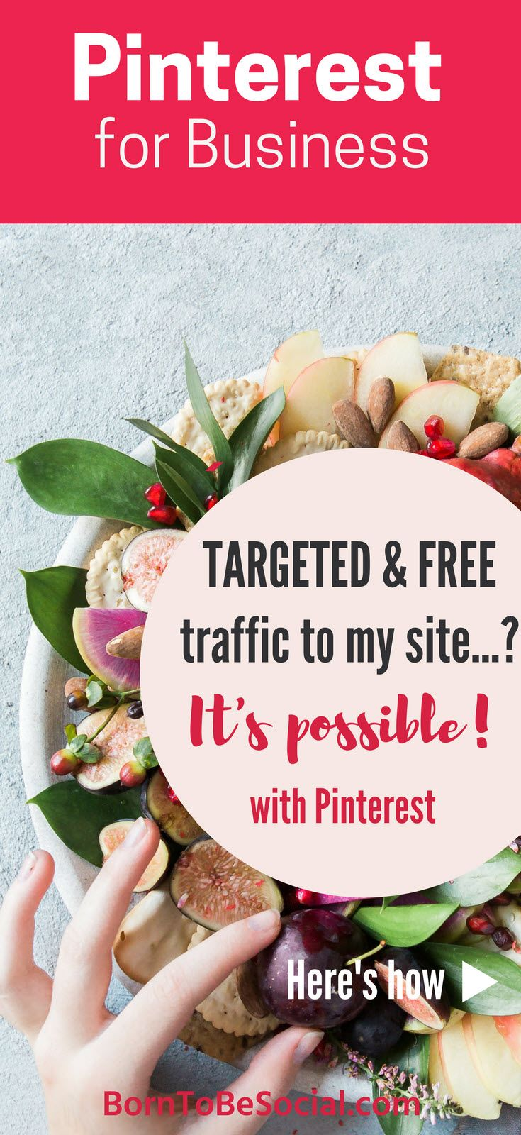 Learn how to build a PERFECT Pinterest page that attracts YOUR DREAM CLIENTS... be helpful | be visual | inspire! Three essential ingredients to steer a targeted audience in your direction. Get discovered on Pinterest by your perfect clients. Pinterest Strategy Tips for Business. | via @BornToBeSocial – Conversion Focused Pinterest Marketing