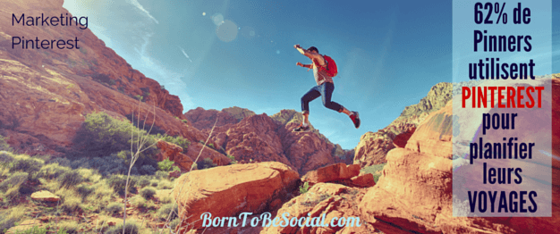DEMARQUEZ-VOUS SUR PINTEREST : COMMENT ATTIRER LES VOYAGEURS ! – Saviez-vous que 62 % des utilisateurs Pinterest disent l'utiliser afin de planifier leurs voyages ? Pinterest fait-il partie de votre stratégie de marketing? Si ce n'est pas encore le cas, vous risquer de passer à côté d'un potentiel commercial non-négligeable. Voici pourquoi. | via #BornToBeSocial - Conseil & Accompagnement Pinterest