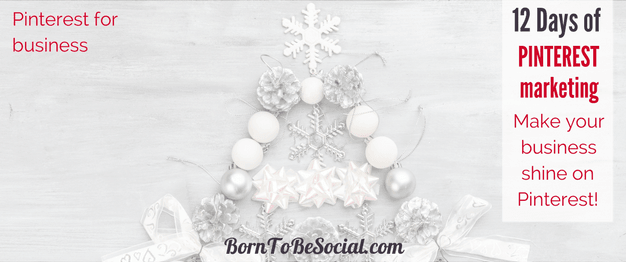 12 DAYS OF PINTEREST MARKETING - The countdown to Christmas has started! For the 12 days of Christmas, here are 12 Pinterest Marketing tips & tricks from me to you. Click to discover some of the highlights of Pinterest Marketing advice that I shared over the last 12 months. | BornToBeSocial, Pinterest Marketing & Consulting | Your Pinterest Partner