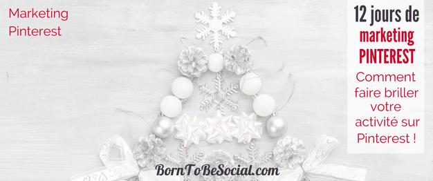 LES 12 JOURS DE MARKETING PINTEREST - Le compte à rebours de Noël a commencé ! Pour les Douze Jours de Noël, je vous offre 12 conseils & astuces. Dans cet article je mets en lumière quelques-uns de mes conseils marketing sur Pinterest que j'ai partagé au cours des 12 derniers mois sur mon blog. A relire à volonté ! | BornToBeSocial - Votre Partenaire Pinterest | Conseil & Accompagnement Pinterest