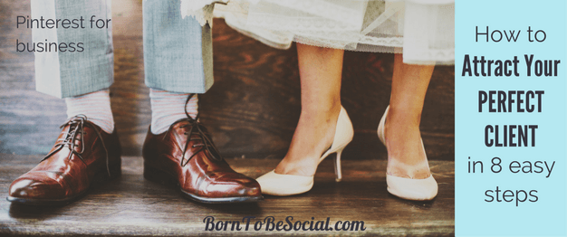 HOW TO FIND WEDDING CLIENTS WITH PINTEREST FOR HOTEL WEDDING VENUES, WEDDING PLANNERS & PHOTOGRAPHERS - 8-STEP CHECKLIST & ACTION PLAN. Planning the perfect wedding starts on Pinterest. Your perfect clients spend a LOT of time pinning and planning their perfect wedding, but are they finding their way to the wedding services on your website? | via @BornToBeSocial, Pinterest Marketing & Consulting | Your Pinterest Partner #borntobesocial #weddingideas #weddingplanning #weddingvenue