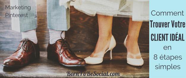 COMMENT TROUVER DES CLIENTS MARIAGE AVEC PINTEREST. PLAN D'ACTION EN 8 ÉTAPES POUR WEDDING PLANNERS, PHOTOGRAPHES & HÔTELS. Si vos clients sont de futur(e)s marié(e)s, Pinterest est LA plate-forme pour commercialiser votre activité. Votre cible clientèle y passe beaucoup de temps à épingler et à planifier leur mariage parfait, mais ont-ils croisé VOTRE site en cherchant leur bonheur ? ! | via @BornToBeSocial - Votre Partenaire Pinterest | Conseil & Accompagnement