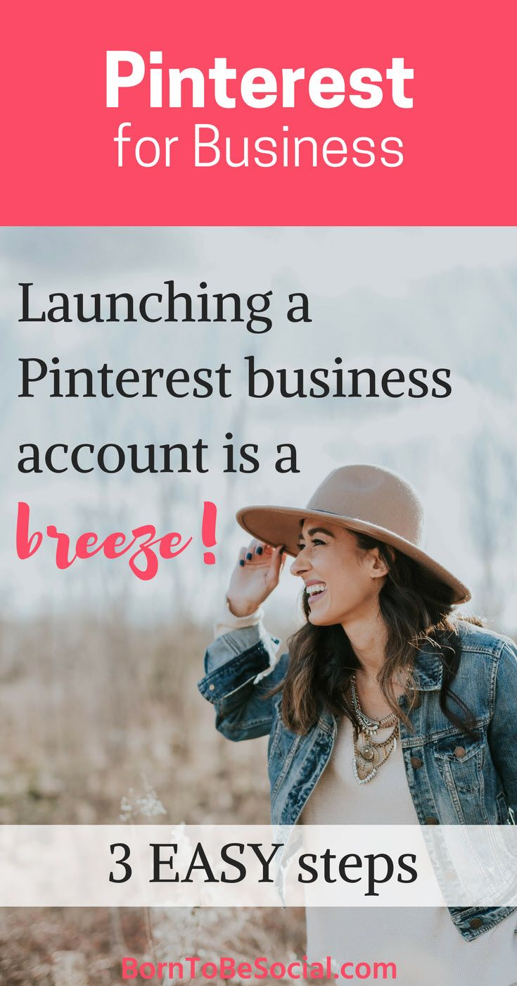 HOW TO CREATE YOUR PINTEREST BUSINESS ACCOUNT IN 3 EASY STEPS - If you have a Pinterest account that you use for business, a Pinterest Business Account is essential. It's free to use and offers valuable insights and additional functionality. It's super easy to create or convert. Let's go! | via @BornToBeSocial - Pinterest Marketing for Entrepreneurs & Businesses | Conversion Focused Pinterest Marketing | Coaching & Consulting