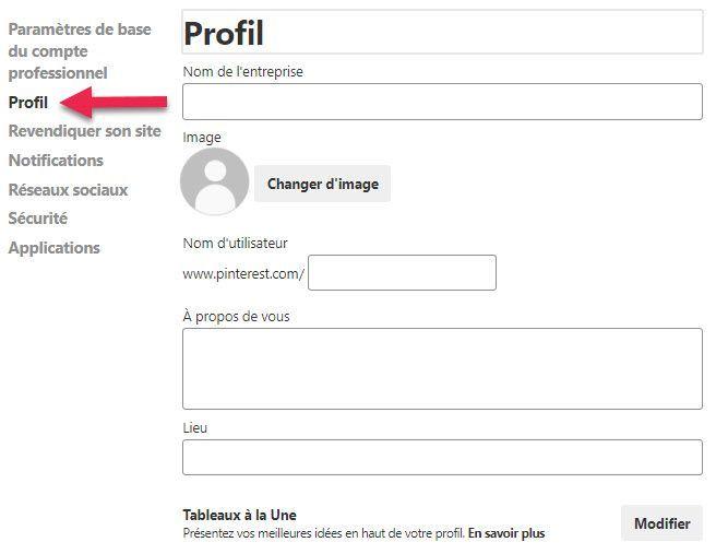 Optimisez votre profil Pinterest