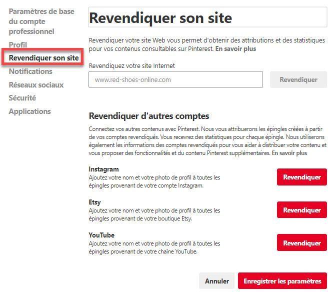 Revendiquez votre site Web